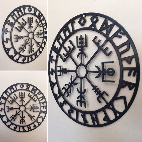 Vegvisir Nordic Metal Wall Art Decor by Cre8iveMetalDesigns