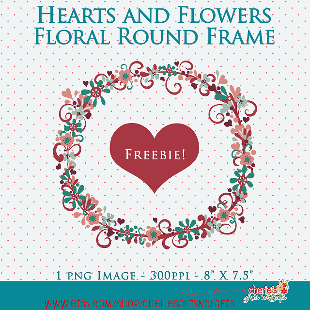 Need a lovely floral PNG frame? Here's a freebie for you! For personal use please! #artbycherie #freebies #digitaldesigners