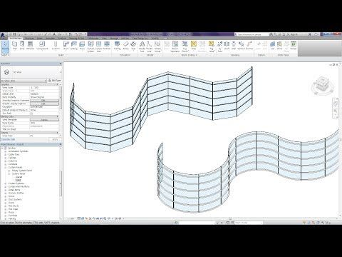 Revit Tips - Curved Curtain Wall - YouTube | Remodeling/ Home update