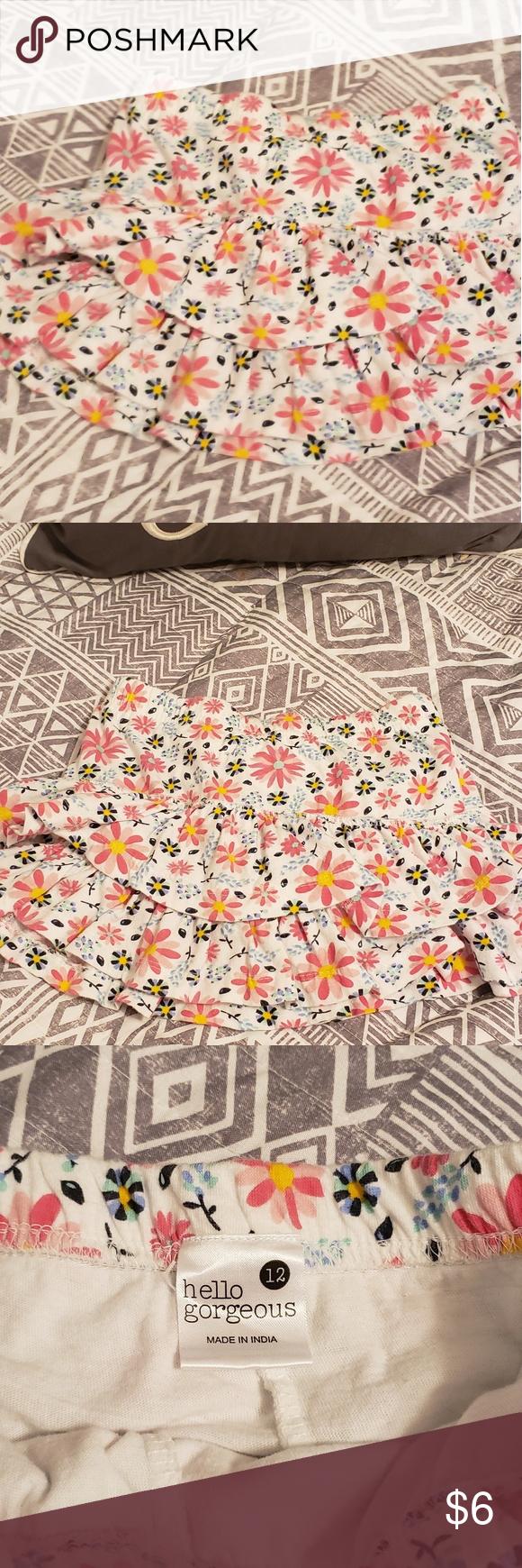3 10 Sz 12 Girls Flower Skirt Flower Skirt Girl Skirt Hello Gorgeous