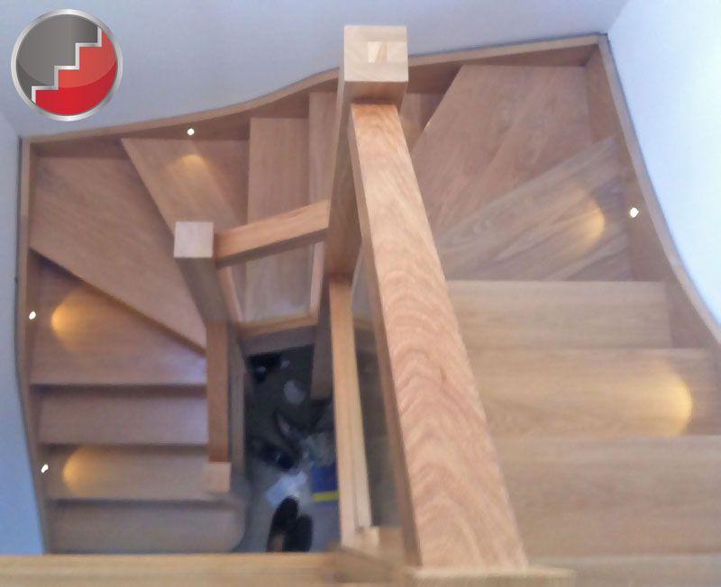 Beautiful Oak Double Winder Staircase