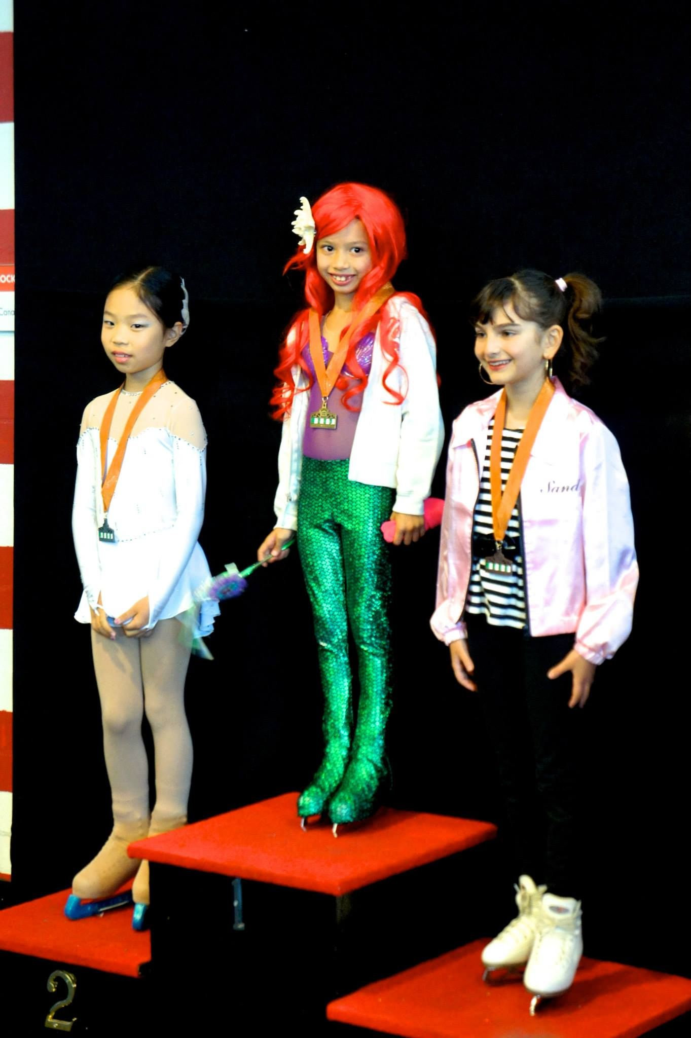 Ariel with a GOLD medal