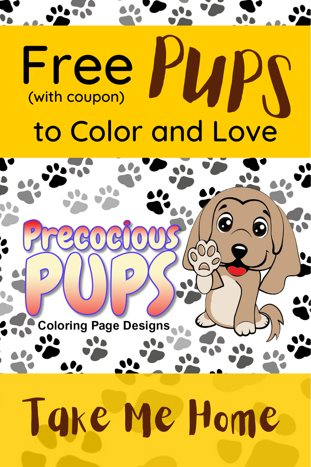 Use Coupon Code Ppups To Get 10 Coloring Pages Free Puppy Coloring Pages Coloring Pages Free Puppies