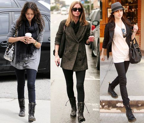 combat boots casual wear