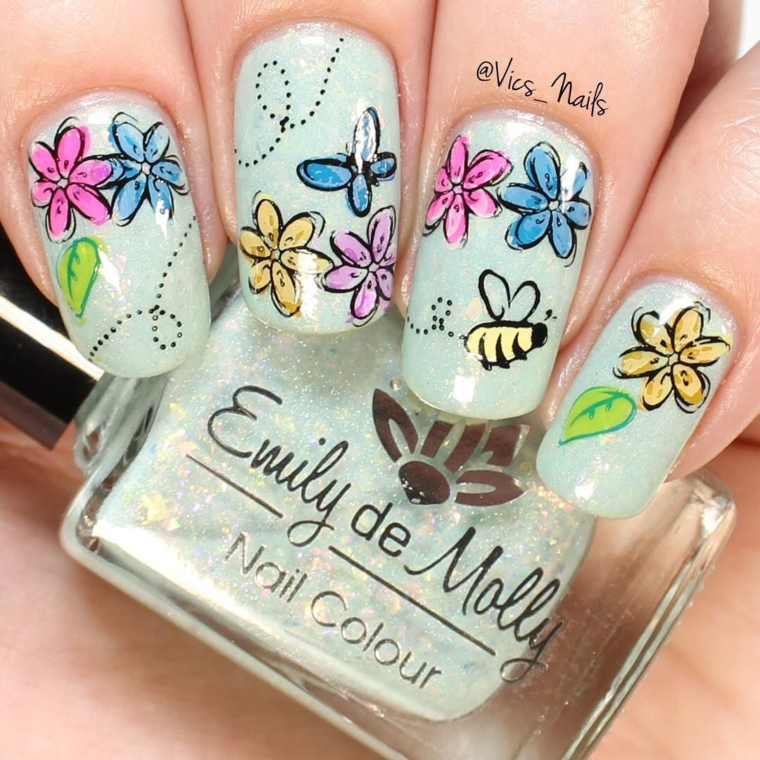 "Victoria Simpson (vics_nails) on Instagram ""Spring nails"