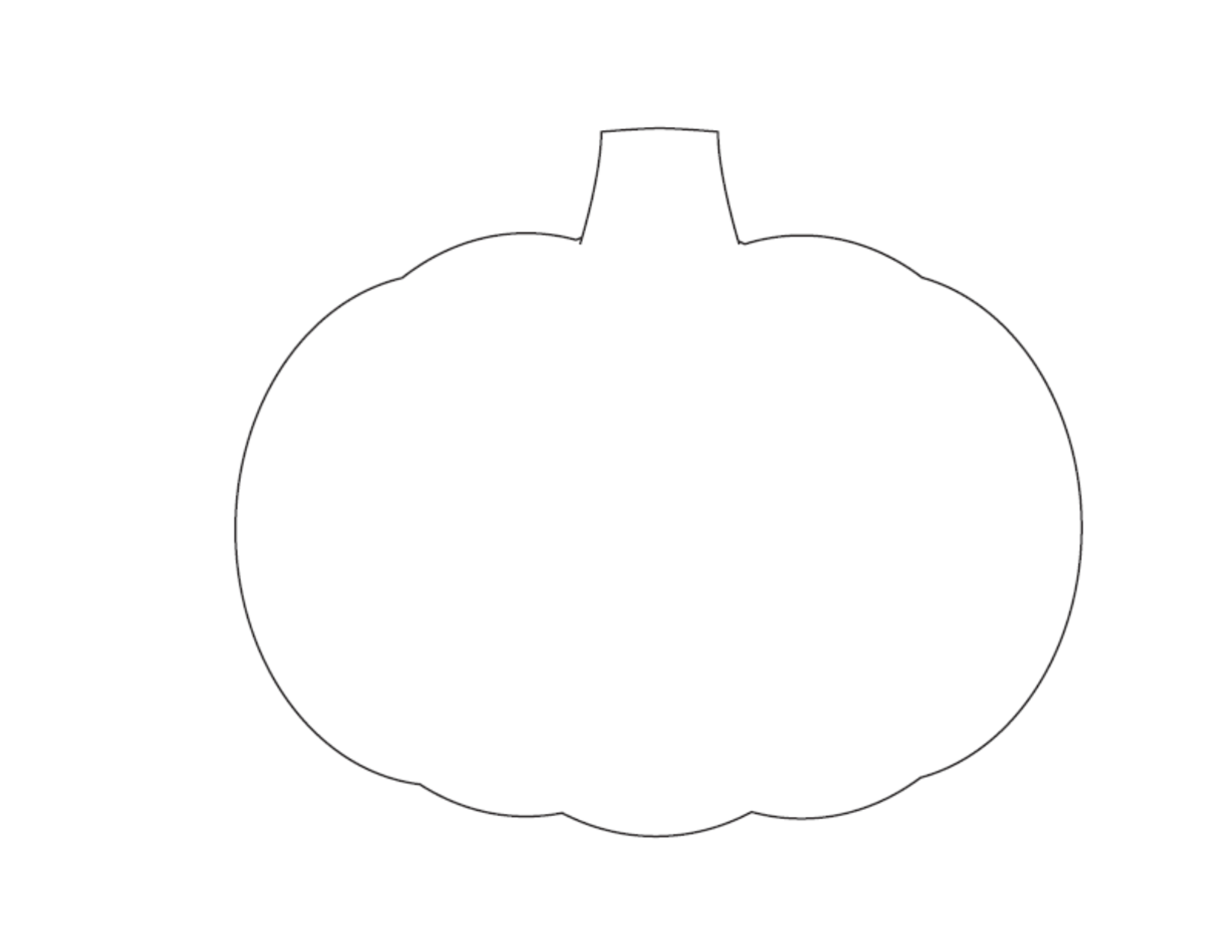 large pumpkin template