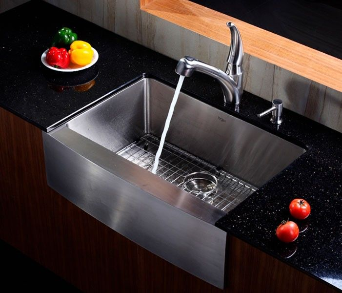 Kraus Khf 200 30 Stainless Steel Farm Sink Installed Installed