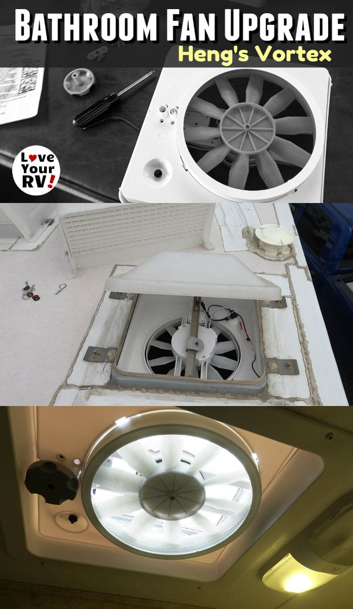 Rv Bathroom Fan Upgrade Heng S Vortex Rv Bathroom Bathroom Fan Bathroom Vent Fan