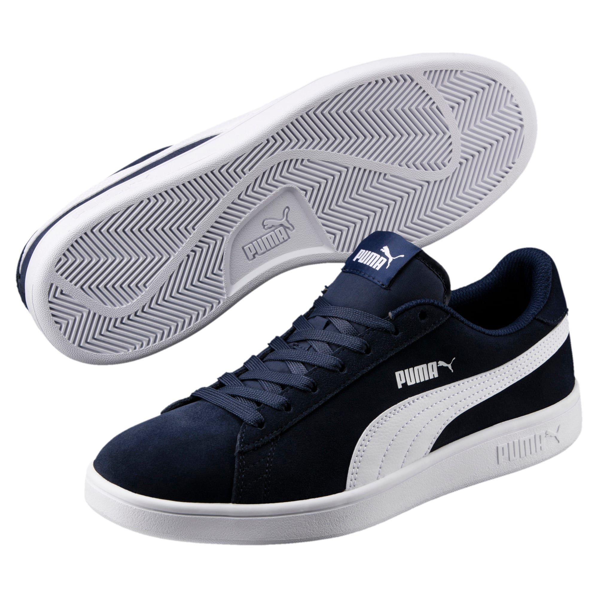 Smash v2 Trainers | White puma shoes, Blue shoes, Sneakers