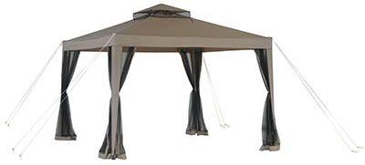 Weist Gazebo With Canopy Netting 10 X 10 Ft Gazebo Roof Design Canopy