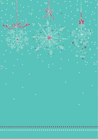 Winter Snowflake Border Scrapbook Paper