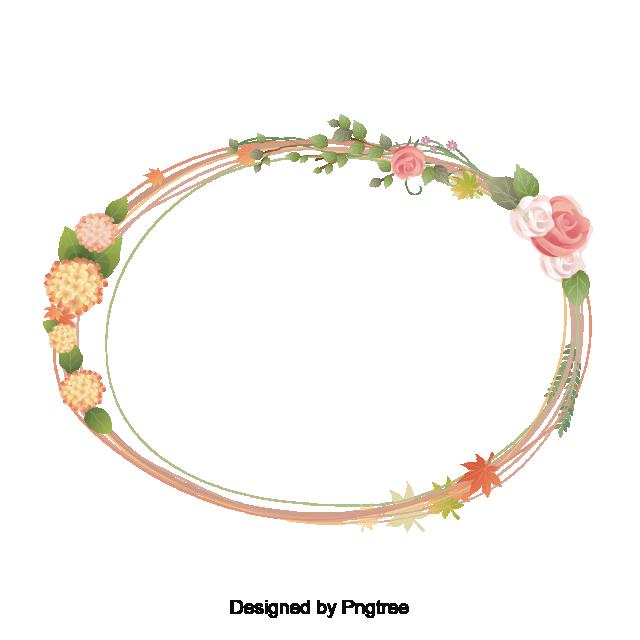 Romantic Flower Border Frame Vector Flower Vector Flower