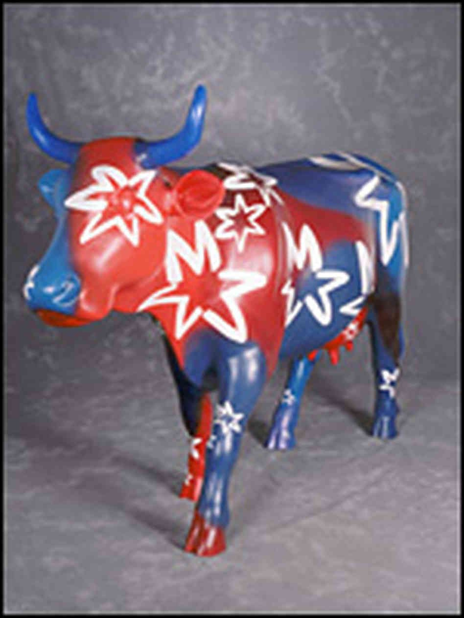 cows on parade chicago | ... Moollennium cow from the city's 1999 Cows on Parade display