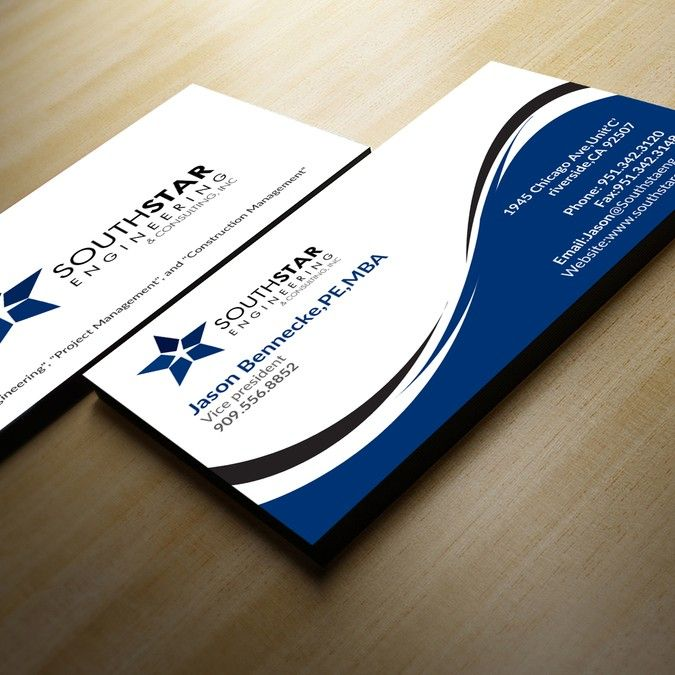 Business card design for leading Engineering firm in