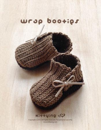 Crochet Pattern Baby Booties Wrap Baby Booties Crochet Pattern ...