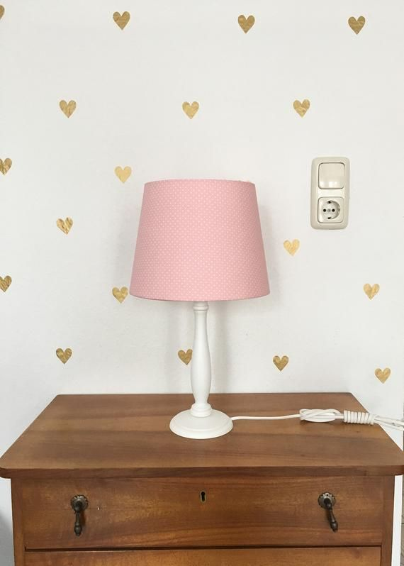 Wanddeko Kinderzimmer, Wandtattoo Kinder Punkte gold rosa