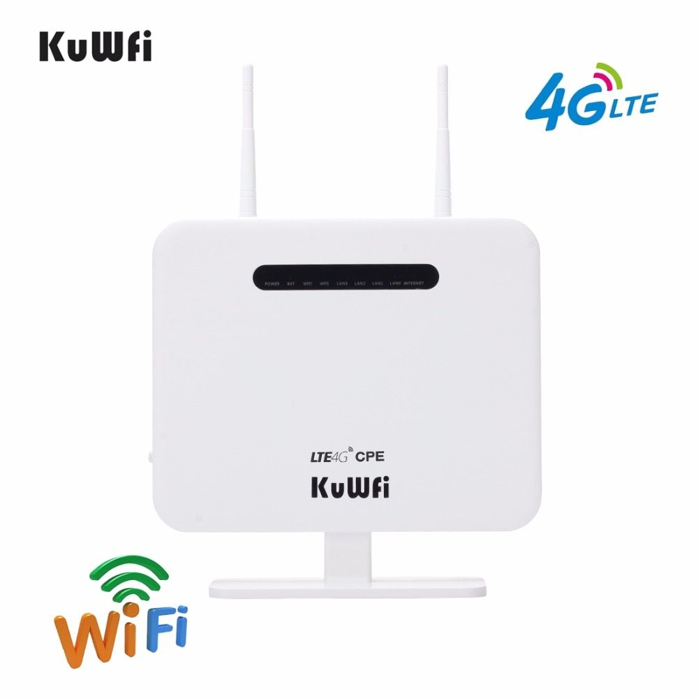 4G LTE Router 300Mbps Wireless CPE 4G LTE Mobile Wifi Hotspot With Sim Card Slot