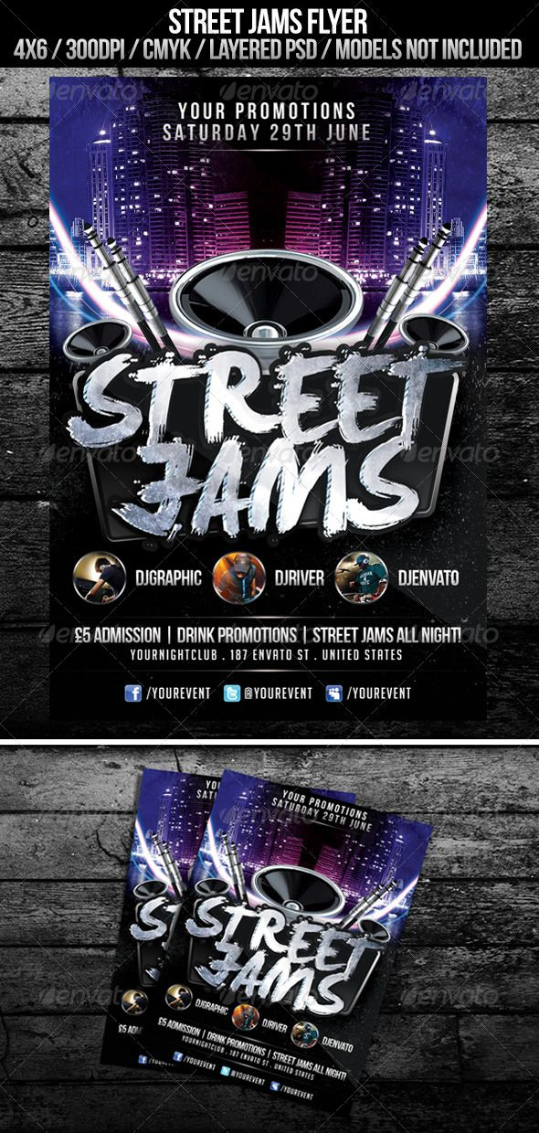 street jams flyer graphicriver street jams flyer named layers