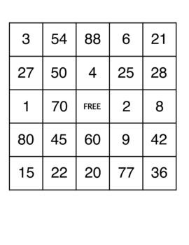 A Math Bingo Game Is A lot More Fun Than Doing Math Worksheets!