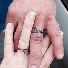 33 Impossibly Sweet Wedding Ring Tattoo Ideas You Ll Want To Say I Do Weddingtattoo Love Pinterest R