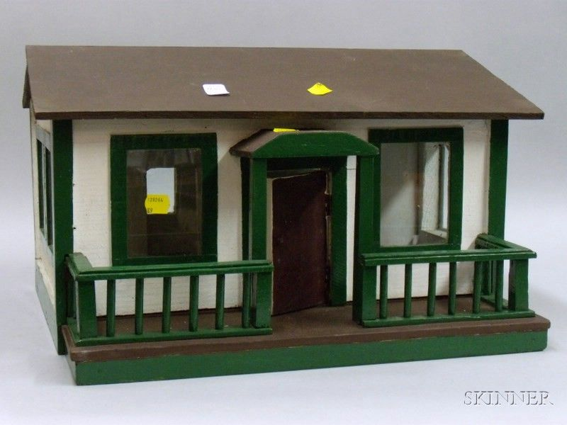 Handcrafted Painted Wood Cottage Dollhouse | Sale Number 2441, Lot Number 373 | Skinner Auctioneers