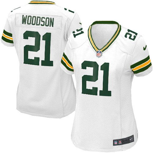 promo code 2cf28 5d569 New Women's White Nike Game Green Bay Packers #21 Charles Wo ...