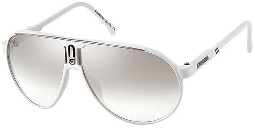 49adea641b8eb óculos de sol lente espelhado branco