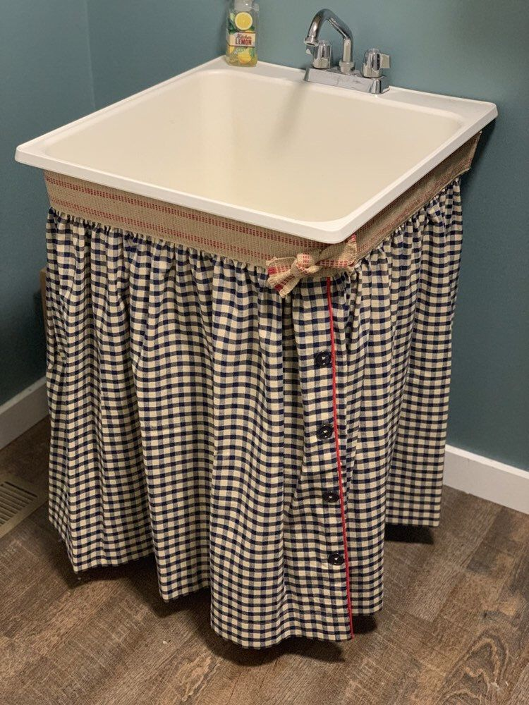 sink skirt primitive laundry rooms