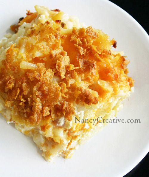 Cheesy Hash Brown Potatoes Nancycreative Com Cheesy Hashbrowns Food Recipes
