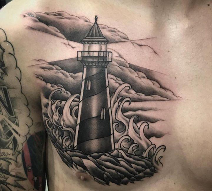 Lighthouse tattoo by bhall_tattoo from hotrod tattoo