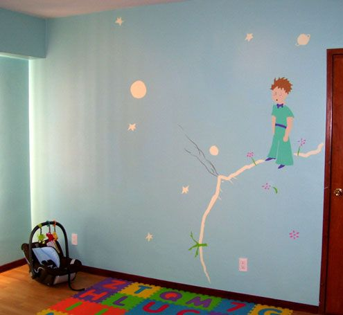 Little Prince Wall Mural Girl Amp Boy Room Ideas Prince Nursery Murals For Kids Baby Boy Rooms