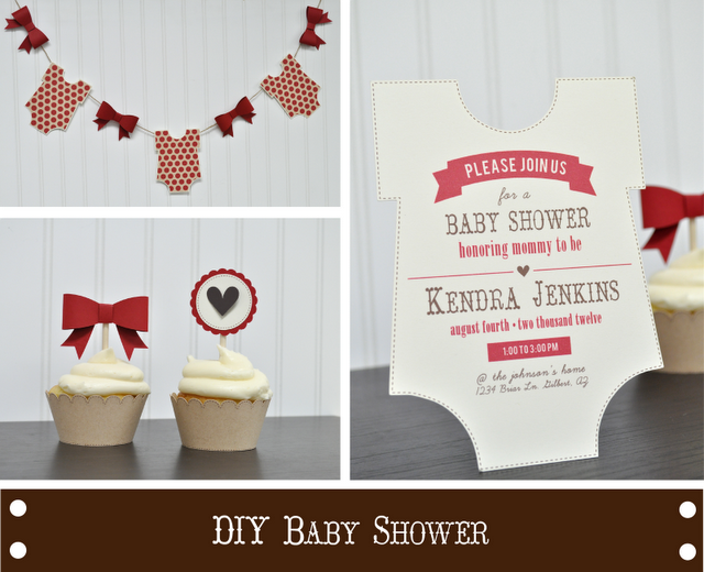 Silhouette Blog: DIY Onesies and Bows Baby Shower