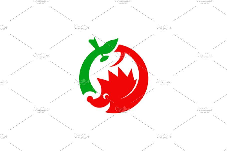 Hedgehog and apple Creative Logo Templates