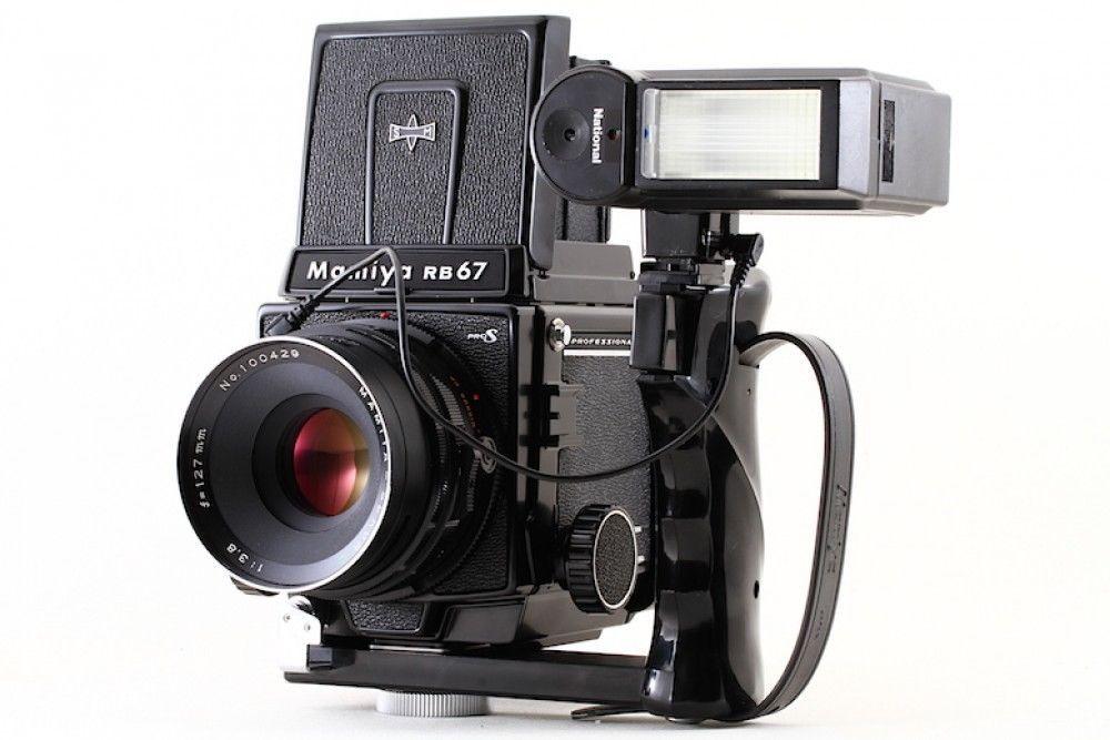MINT! Mamiya RB67 Pro S+ WLF + Sekor c 127mm F 3 8 +Grip+