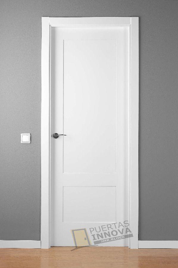 Puerta lacada blanca lac 5102 2 plafones puertas innova - Precios puertas interiores ...