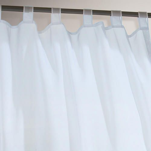 White Escape Tab Top Outdoor Patio Curtain Polyester 84 L By World Market