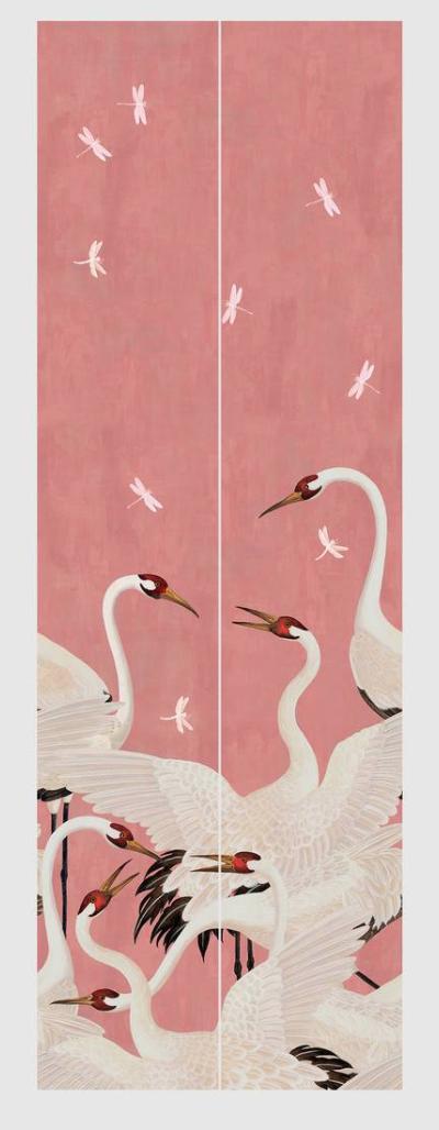 Heron Print Wallpaper From Gucci Com Print Wallpaper House Paint Design Bird Houses Painted