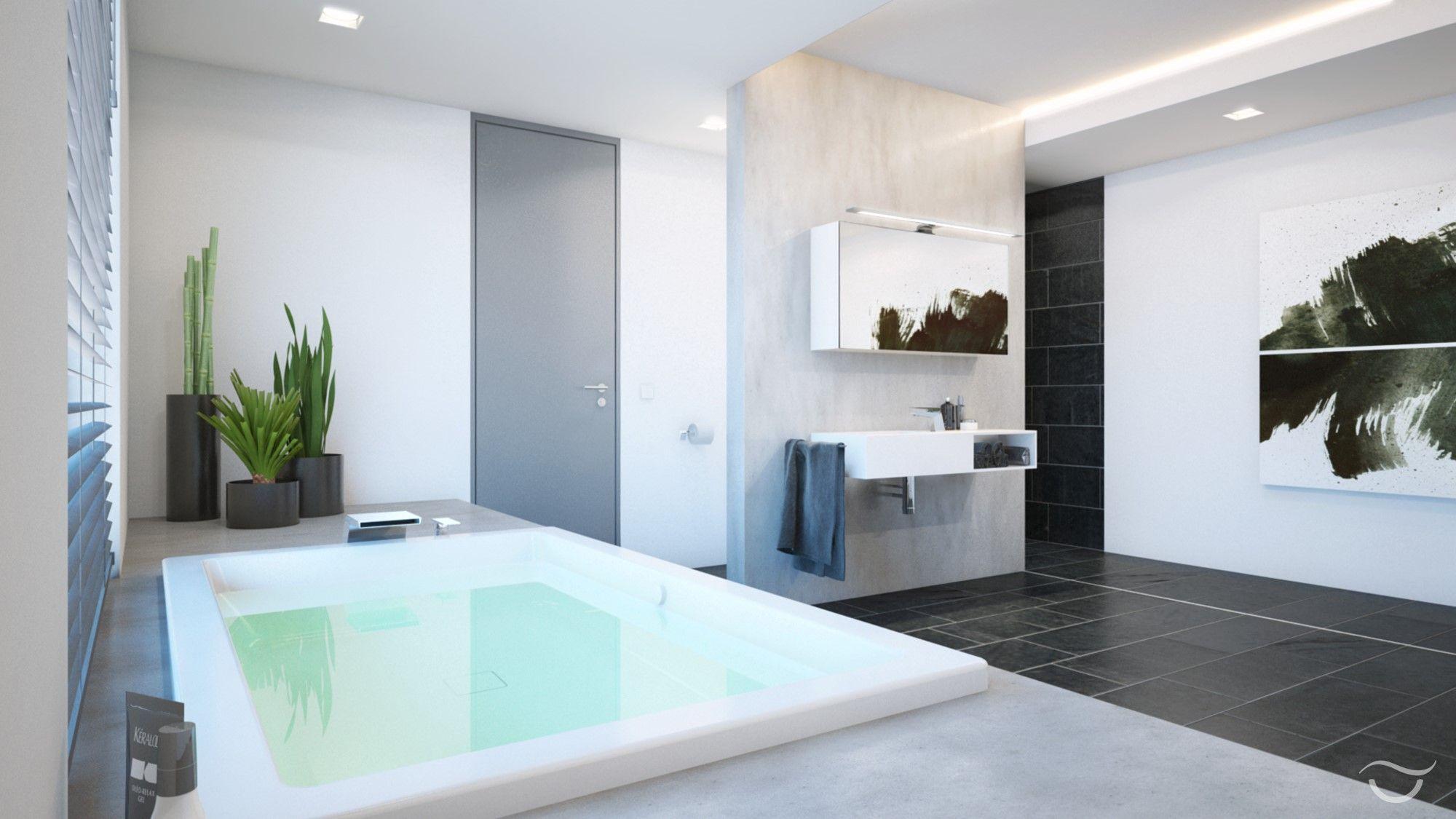 Modernes Badezimmer Design MANHATTAN: Elegante Badewanne Mit Großzügiger  Sitz  Und Ablagefläche