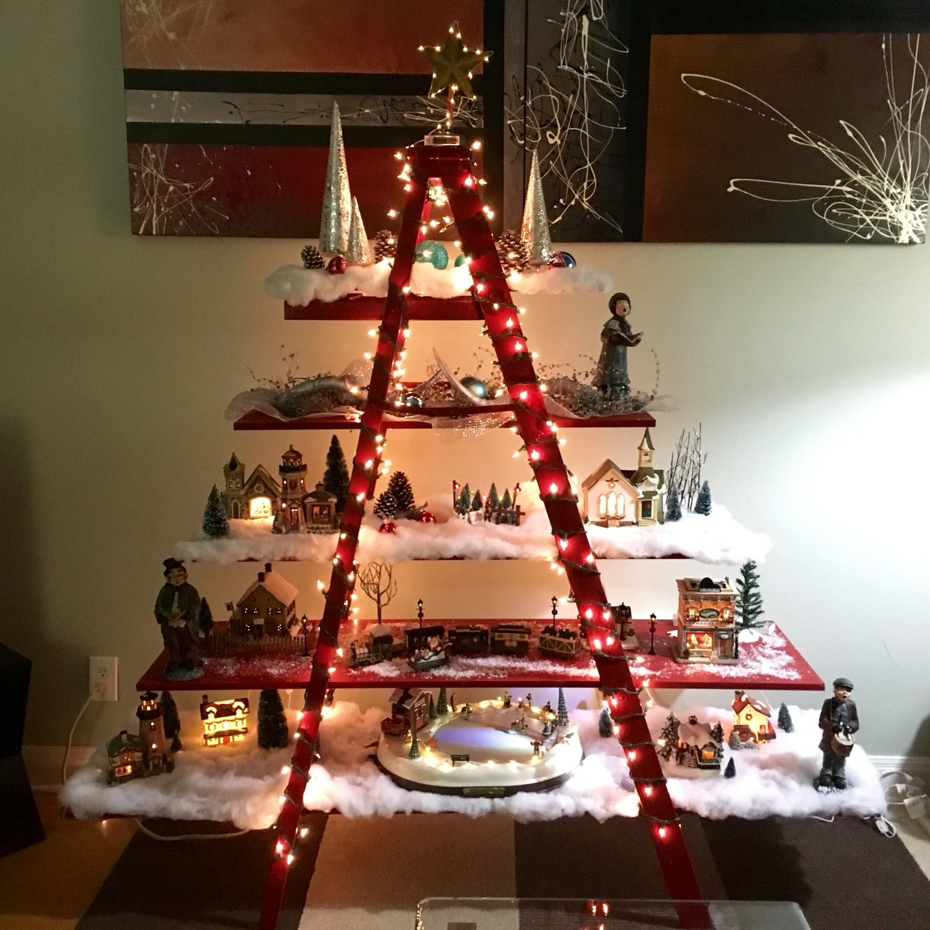 Ladder Christmas Tree Ladder Christmas Tree Pinterest