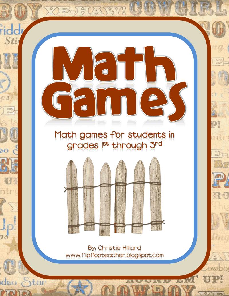 Cowboy Math Games.pdf - Google Drive   Math Ideas for Classroom ...