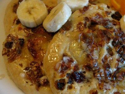 Banana Crunch Pancakes Kate Battistelli Recipe Banana Granola Granola Pancakes Easy Breakfast Options