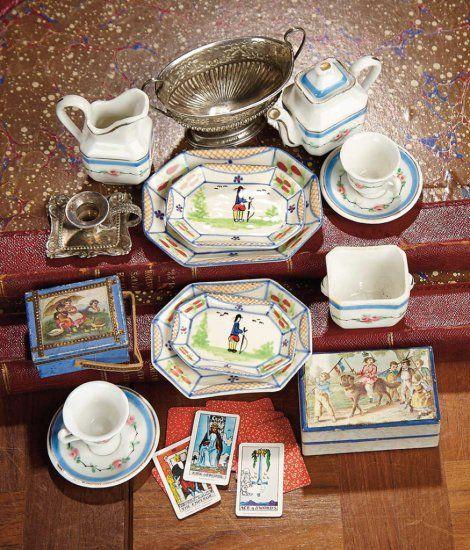 """3 1/2"""" (9 Cm.) L. Silver Urn. Including Porcelain De Paris"""
