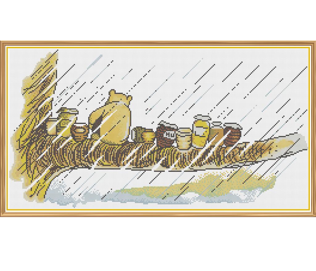 Winnie The Pooh - Rainy Day - Counted Cross Stitch pattern, $6.00 ...
