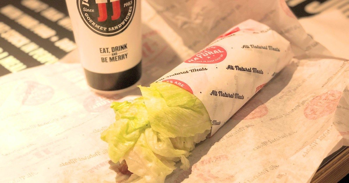 jimmy johns keto dining guide unwich and drink on a