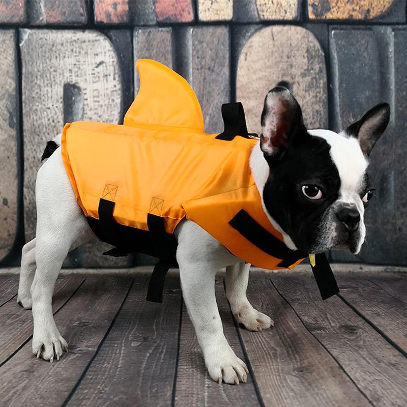Dog Life Vest Summer Shark Pet Life Jacket Dog Surfing
