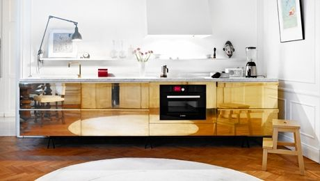 brass kitchen