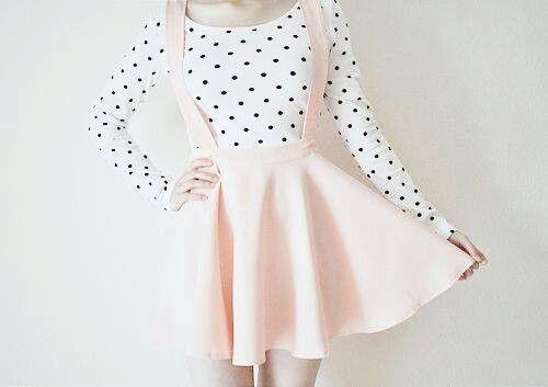 Circle skirt polka dots