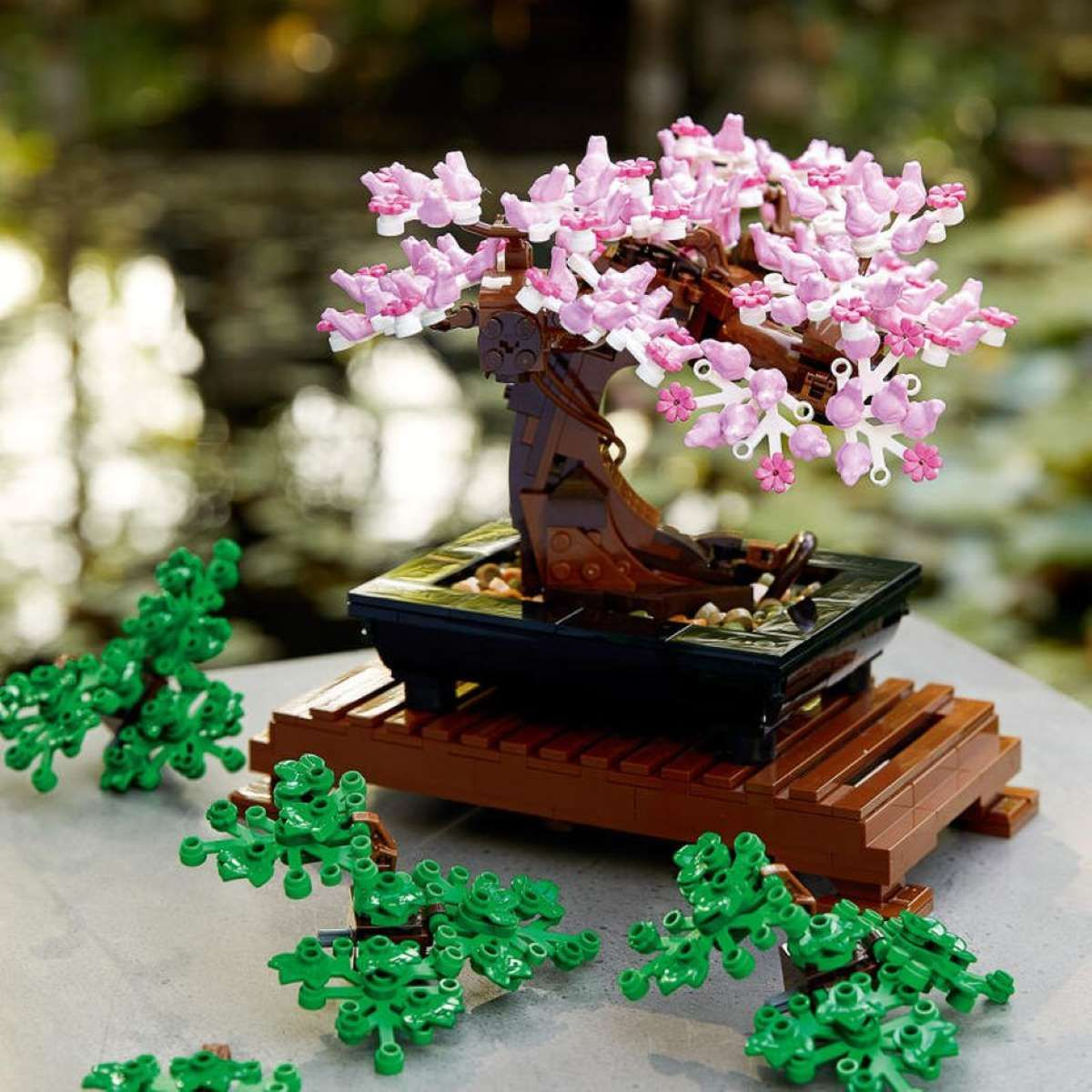 Lego Wants To Help You Relax By Making Brick Bonsai Trees Flower Bouquets In 2021 Bonsai Tree Flowers Bouquet Botanical Collection