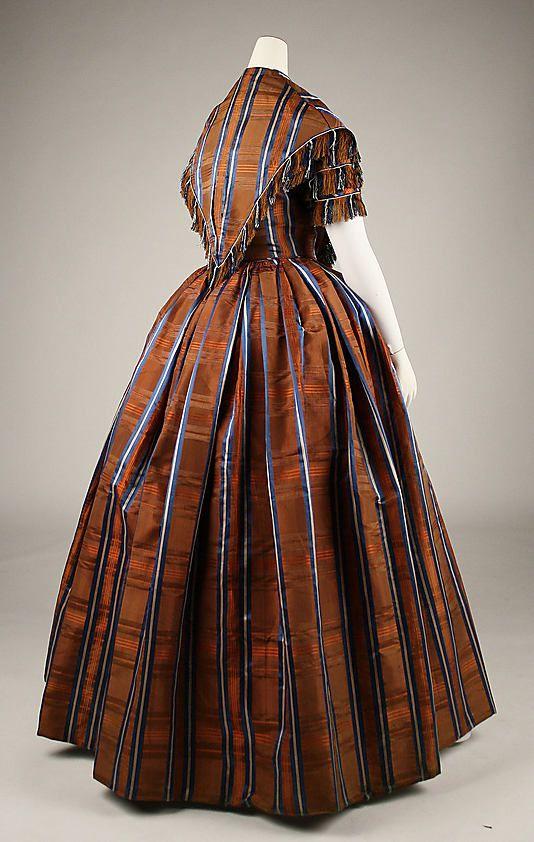 Dress, 1845–50, silk