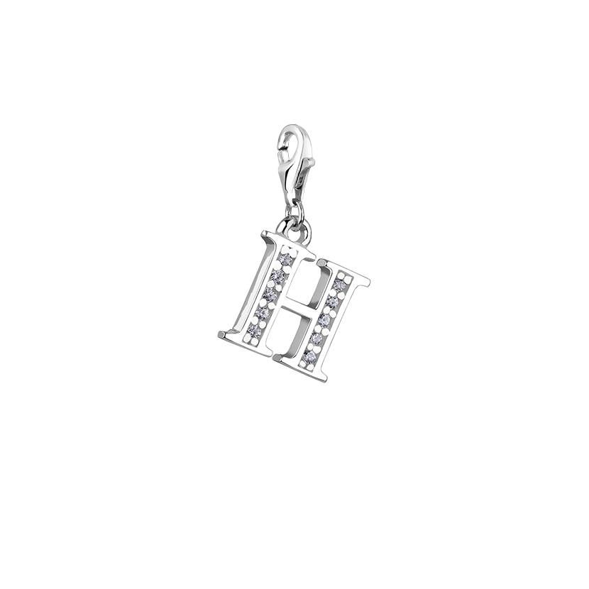 Initial charmletter h charmcustom silver letterhandmade charm initial charmletter h charmcustom silver letterhandmade charmcharm for aloadofball Image collections